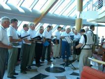 Närpes Manskör sjunger på Hurtigrutten 2006